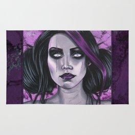 Scars Gothic Ghoul Portrait Rug