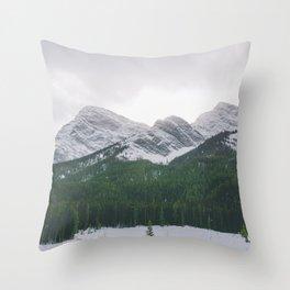 Sun Over The Trees Throw Pillow