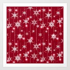 Bright Christmas background. Art Print