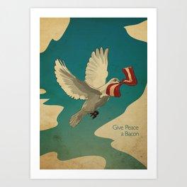 Give Peace a Bacon Art Print