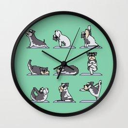 Miniature Schnauzer yoga Wall Clock