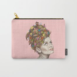 Hair Garden // twiggy with the cool hair Carry-All Pouch