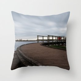 Chasewater Boardwalk Throw Pillow