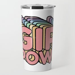 Girl Power grl pwr Retro Travel Mug
