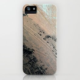 Landslide: a pretty, minimal abstract piece in pink, and blues iPhone Case