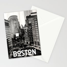 Boston, Massachusetts City Skyline Stationery Cards