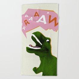 Dinosaur Raw! Beach Towel