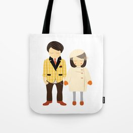 Young Love - Couple's Engagement / Wedding / Anniversary Portrait - Illustration Print Tote Bag
