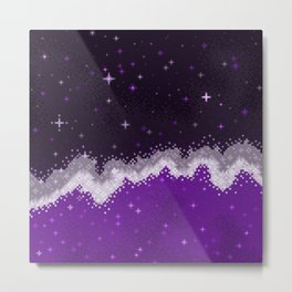 Ace Pride Flag Galaxy Metal Print