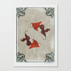 Peony gold fish Canvas Print