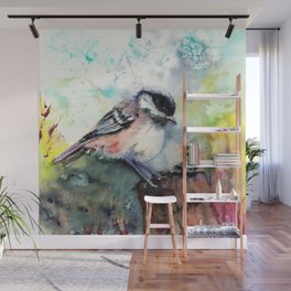 Little coal tit Wall Mural