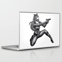 catwoman Laptop & iPad Skins featuring Catwoman  by Elizabeth A