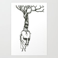 Tree Stacks Art Print