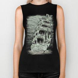 Caleuche Ghost Pirate Ship Variant Biker Tank
