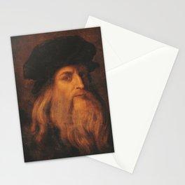 Leonardo Da Vinci portrait Stationery Cards