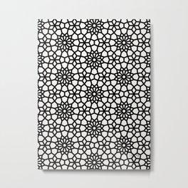Persian Mosaic – Black Palette Metal Print