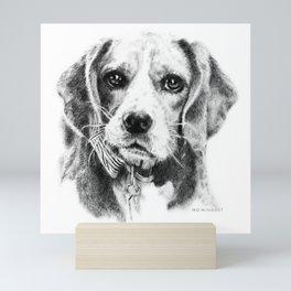 Bruno the Beagle Mini Art Print