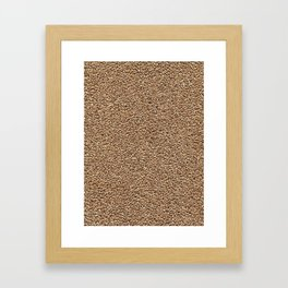 Wheat. Background. Framed Art Print