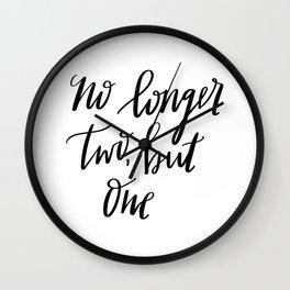 No Longer Two Wall Clock