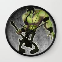 misfits Wall Clocks featuring Misfits by Roe Mesquita