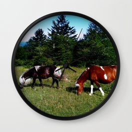 Feral Ponies of Grayson Highlands Wall Clock