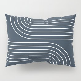 Geometric Lines in Midnight Blue 3 Pillow Sham
