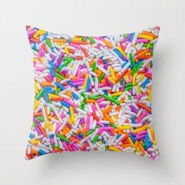 Dessert Rainbow Sprinkles Pattern Throw Pillow