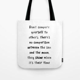 Let the sun & moon inspire you Tote Bag