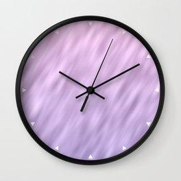 Ultra violet haze abstract texture design Wall Clock