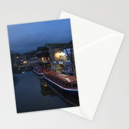 Skipton Wharf by night  Stationery Cards