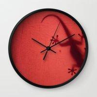 shadow Wall Clocks featuring Shadow by niL.