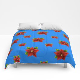 Red Flowers Pattern Comforters