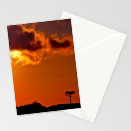 Costa Rica sunset Stationery Cards