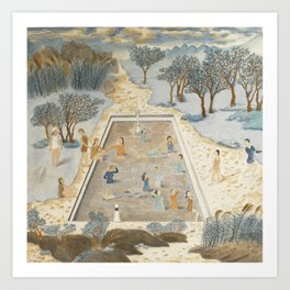 Swimmers In the Spring Breeze Art Print