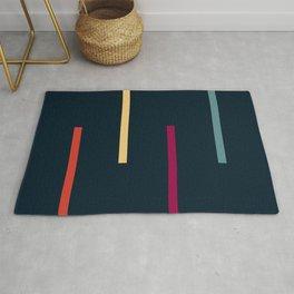 Abstract Minimal Retro Stripes Iyengar Rug