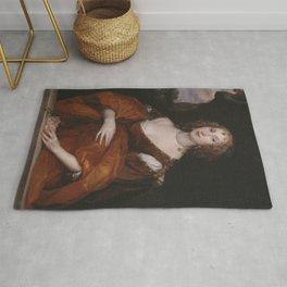 Anthony van Dyck - Portrait of Mary Hill, Lady Killigrew Rug