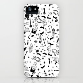 Hadnd painted magic symbols iPhone Case