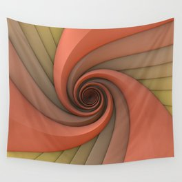 Spiral in Earth Tones Wall Tapestry