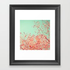 Little dots of red Framed Art Print