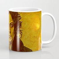 jack white Mugs featuring Jack White by yahtz designs