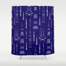 How We Get To Space Shower Curtain