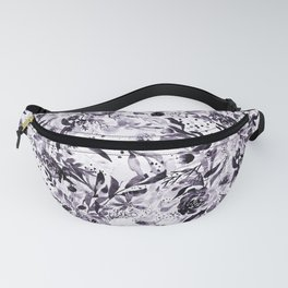 Flower Joy in B+W Fanny Pack