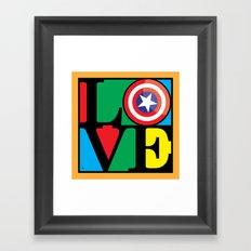 Love America Framed Art Print