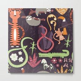 Rain forest animals 002 Metal Print