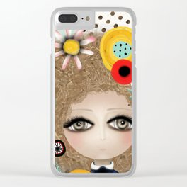 Doll huge eyes - organic Polka dots - Rupydetequila 2019 Clear iPhone Case