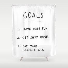 Goals Shower Curtain