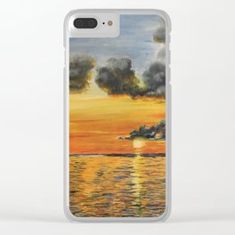 Storm clouds above Clear iPhone Case