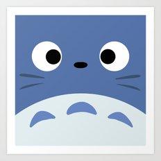 Blue Troll Art Print