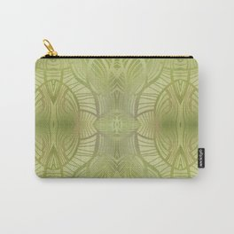 Paris Royal - Watercolor Art Deco Summer Green Carry-All Pouch