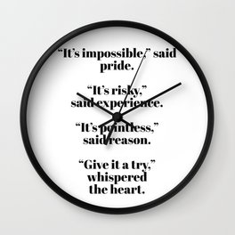 give it a try Wall Clock